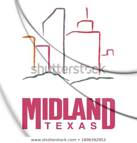 cartoon midland tx stock photo © blamb