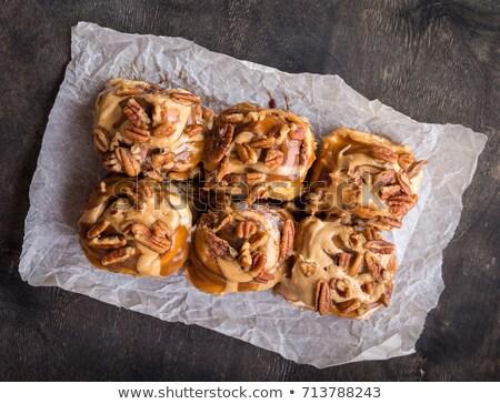 Rollen zoete gebak noten witte textuur Stockfoto © Hofmeester
