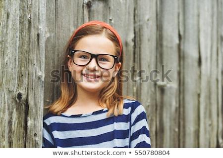 Młoda dziewczyna postawa ilustracja worek stałego kolorowy Zdjęcia stock © vectomart