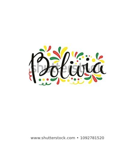 Bolívia · bélyeg · piros · pecsét · vektor · terv - stock fotó © perysty