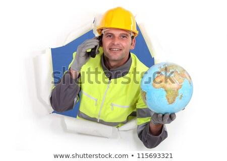 constructeur · monde · ciseler · monde · mère · marteau - photo stock © photography33