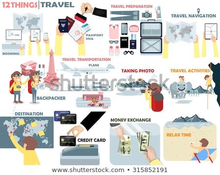 pasaporte · dinero · aislado · blanco · papel · signo - foto stock © raywoo