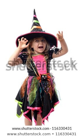 pretty girl dressed up as a halloween witch Stock photo © carlodapino