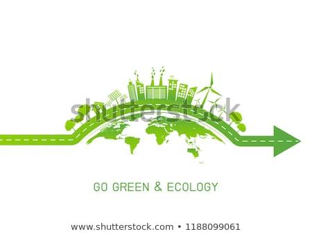 緑 世界 世界中 デザイン 葉 通信 ストックフォト © cheyennezj