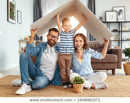famille · nouvelle · maison · ingénieur · maison · construction · enfant - photo stock © brebca