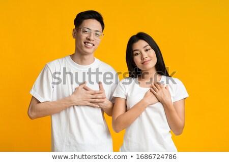 feliz · moço · olhando · grande · óculos · homem - foto stock © feedough