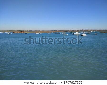 Tekneler sahil küçük balık tutma köy güney Stok fotoğraf © jarp17