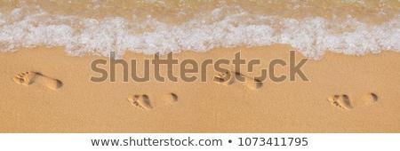 Emberi lépés homok tengerpart tenger nyár Stock fotó © meinzahn