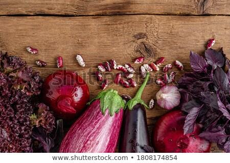 Overhead Border View of Lettuces on Market Table Stock photo © ozgur