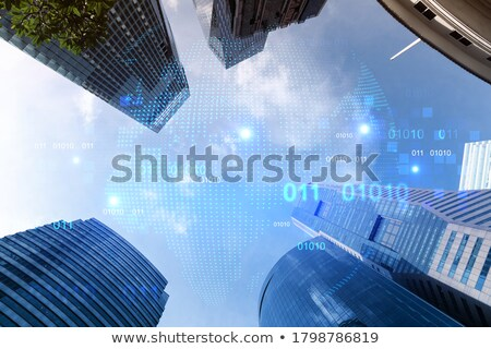 Low angle view of steel roof structure Stock photo © stryjek