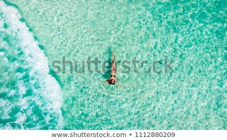 Caribbean Mexican turquioise sea view Stock photo © lunamarina