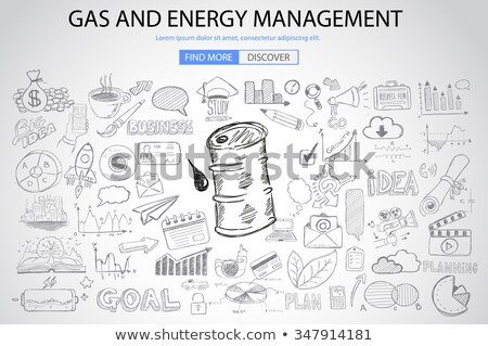 gas and energy management concept with doodle design style stock photo © davidarts