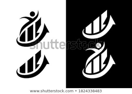 3D graphique à barres graphique déplacement up blanche Photo stock © ijalin
