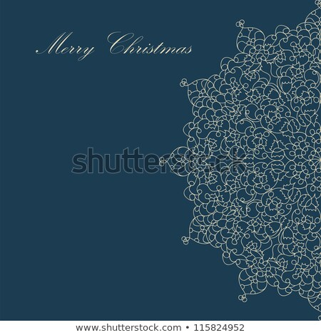 blue christmas card pattern on blue eps 8 stock photo © beholdereye