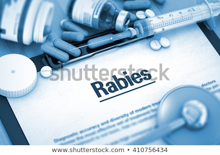diagnosis   rabies medicine concept 3d illustration stock photo © tashatuvango
