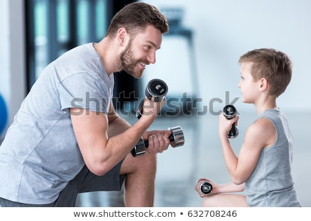 Father and blurred son Stock photo © IS2