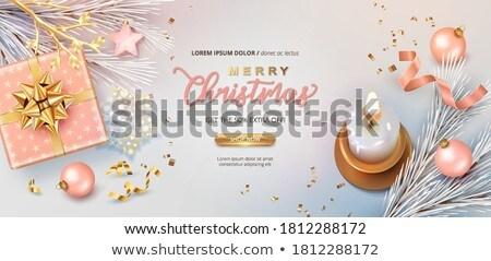 Noël vente carte cuivre flocon de neige hiver Photo stock © cienpies