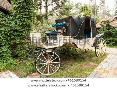 Vintage white coach with gray saloon Stock photo © ruslanshramko
