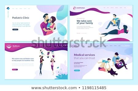 Rodziny lekarza lądowanie strona mąż ciąży Zdjęcia stock © RAStudio