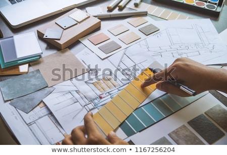 architect · werken · bouwplaats · gebouw · team · jonge - stockfoto © robuart