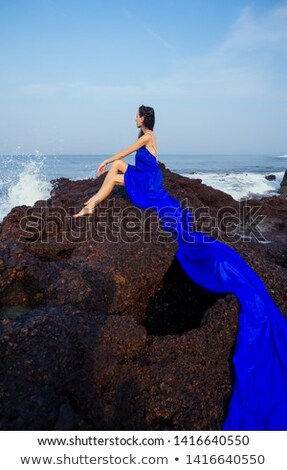 Sensuelle femme posant tropicales nature Photo stock © amok