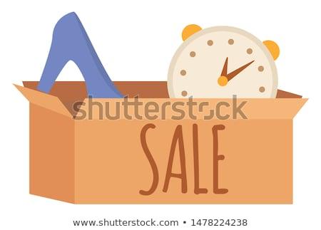 Buena cartón caso garaje venta tienda Foto stock © robuart