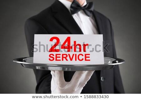 Hombre tarjeta 24 hora servicio Foto stock © AndreyPopov