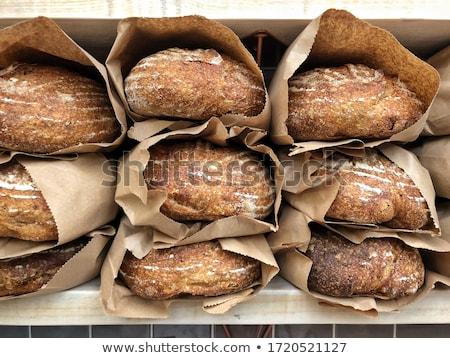 Rebanada pan crujiente mitad rústico Foto stock © Digifoodstock