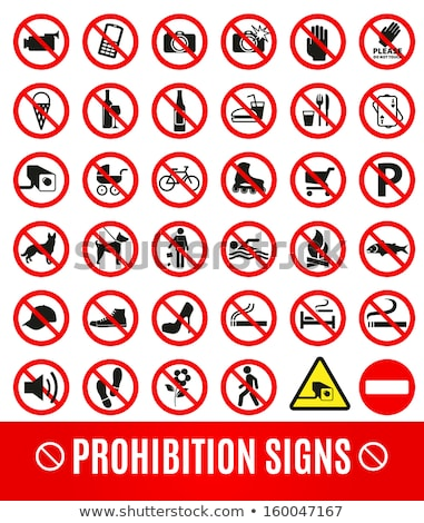 Stock photo: set prohibited signs   fishing