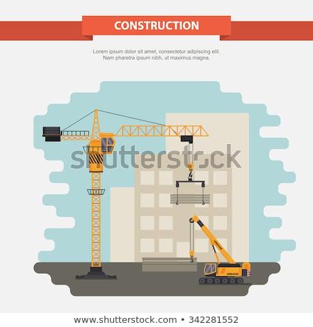 Construction crane and office building Stock photo © stevanovicigor