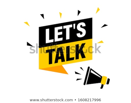 beszéd · piros · pecsét · fehér · stressz · chat - stock fotó © jayfish