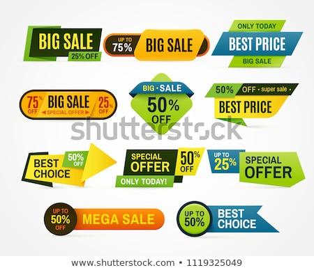 Büyük teklif yeşil vektör ikon dizayn Stok fotoğraf © rizwanali3d