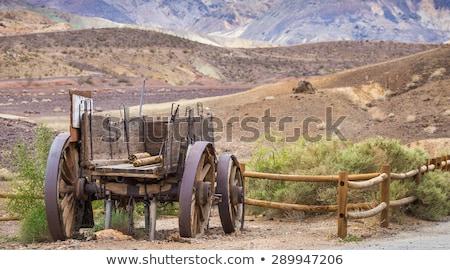 Oude veld houten boerderij land Stockfoto © remik44992