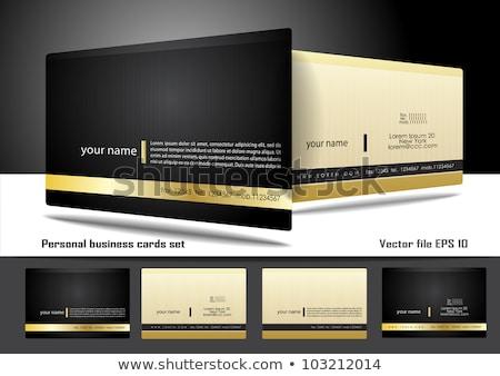 bedrijf · visitekaartje · symbool · twee · moderne · zwarte - stockfoto © pinnacleanimates