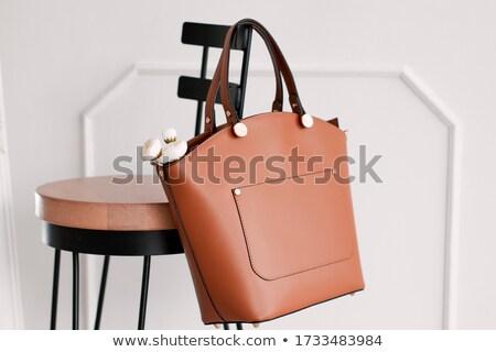 革 袋 ジッパー チェーン 孤立した 白 ストックフォト © vtls