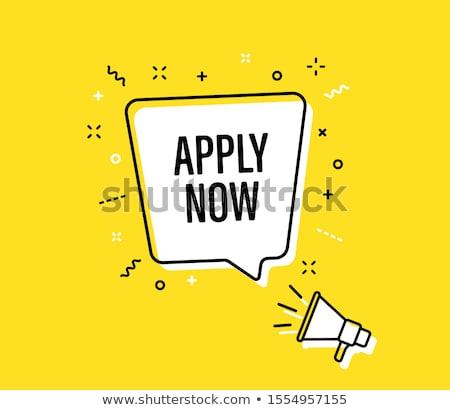 apply now blue vector icon design stock photo © rizwanali3d