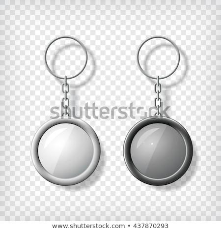 lánc · keret · izolált · fehér · biztonság · acél - stock fotó © pakete