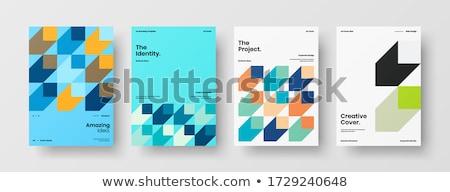 Marka şirket iş broşür broşür şablon Stok fotoğraf © SArts