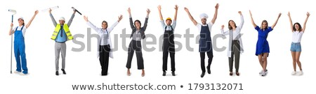 Doctor standing with raised arms up. Stock photo © RAStudio