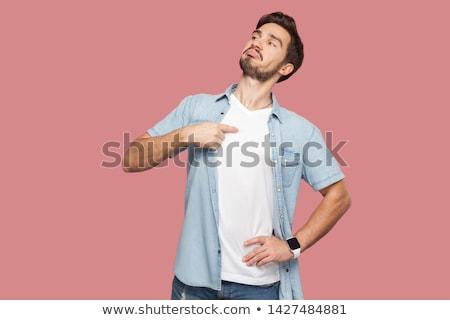 誇りに思う 男 成人 白人 男性 着用 ストックフォト © stevanovicigor