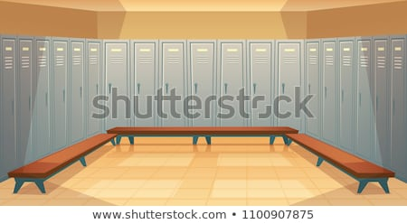 Interior of a locker changing room in the gym Stock photo © boggy