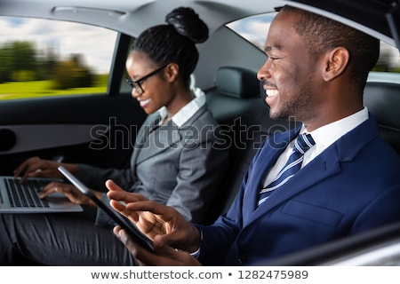 Kettő üzletemberek ül bent autó elektronikus Stock fotó © AndreyPopov