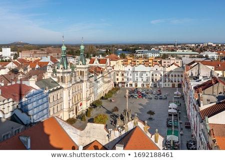 Tér Csehország épület város kék utazás Stock fotó © benkrut