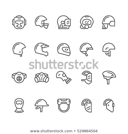 vector set of motorcycle helmet ストックフォト © olllikeballoon