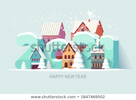 Inschrift Schnee glückliches neues Jahr Textur abstrakten Stock foto © OleksandrO