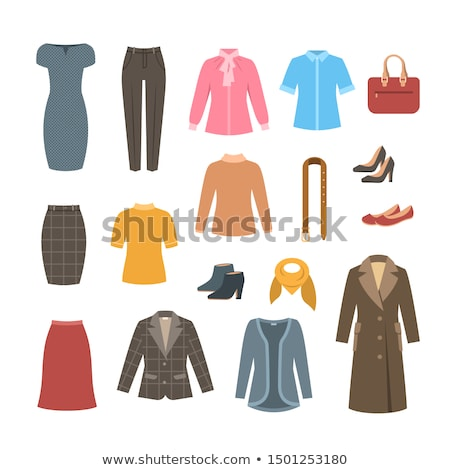 Business woman basic clothes and shoes collection Stock photo © vectorikart