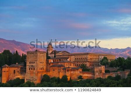 vista · alhambra · España · fortaleza · edificio · castillo - foto stock © borisb17