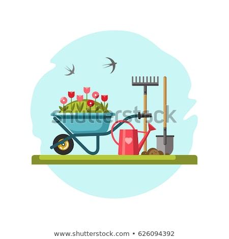 Vector Spring Concept with Garden Tools Stock photo © dashadima