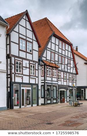 Historic half-timbered houses, Paderborn, Germany Stock photo © borisb17