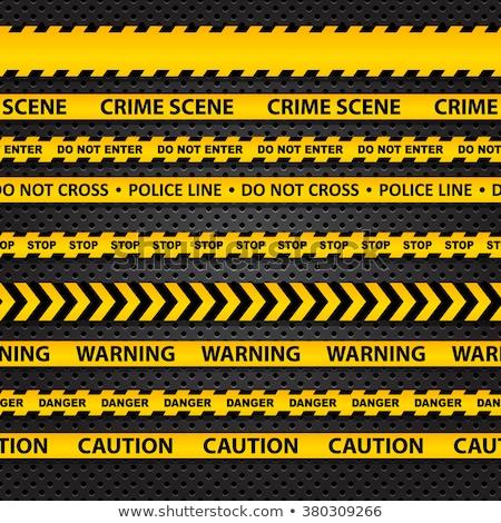 Plástico cautela fita amarelo escuro Foto stock © devon